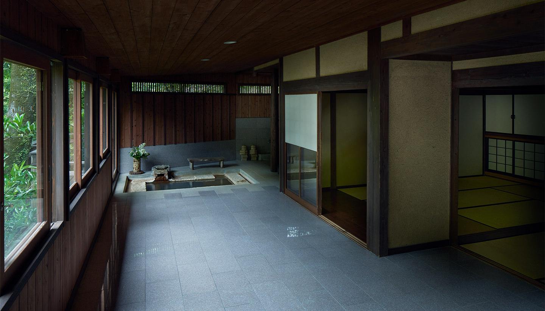 露天風呂風呂付き特別客室の様子